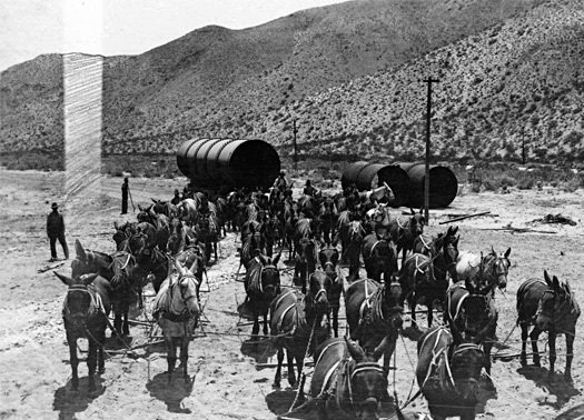 Historic photo of Los Angeles Aqueduct