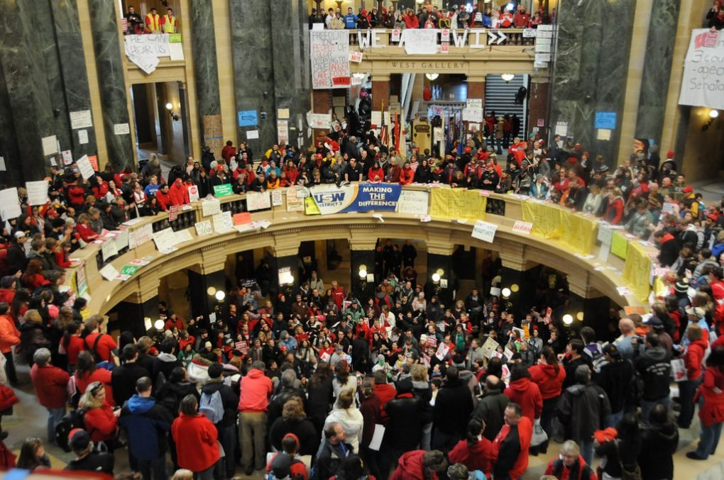 Wisconsin Budget Repair Bill Protest