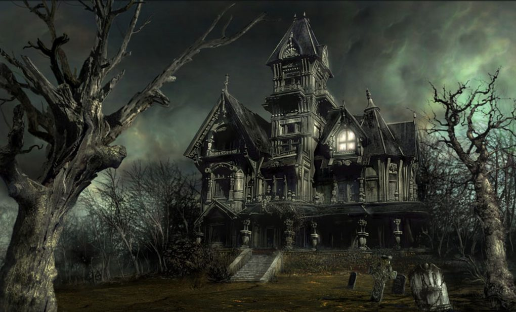 Classic haunted house.