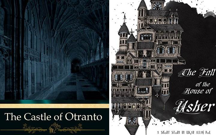 Cover images for The Castle of Otranto and The Fall of the House of Usher