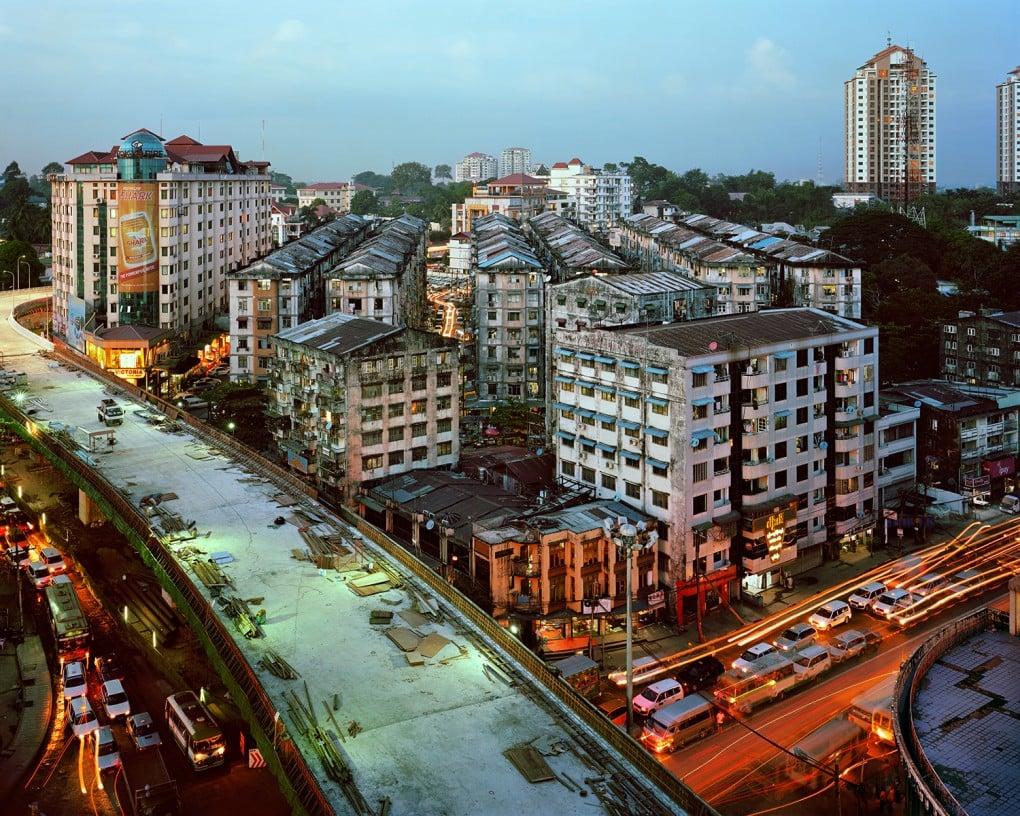 Coming soon: An overpass at Kaba Aye Pagoda Road, Yangon. [Andrew Rowat]