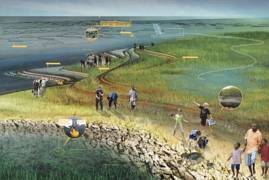 Barnegat Bay Remade, New Jersey. [SCAPE via Rebuild by Design]
