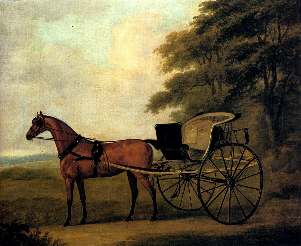 John Nott Sartorius, <em>A Horse and Carriage in a Landscape</em>.