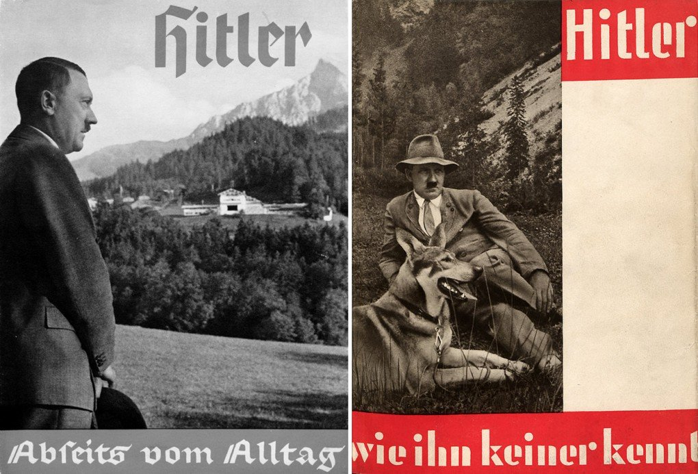 Covers of Heinrich Hoffmann's books on Hitler