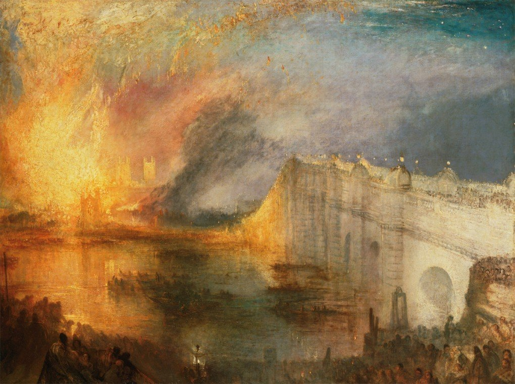 JMW Turner, The Burning of the Houses of Lords and Commons