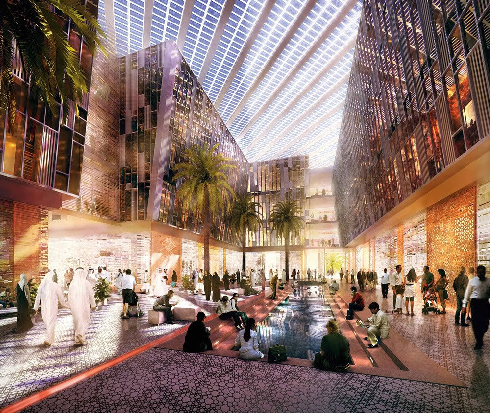 Rendering of Masdar City, Abu Dhabi.