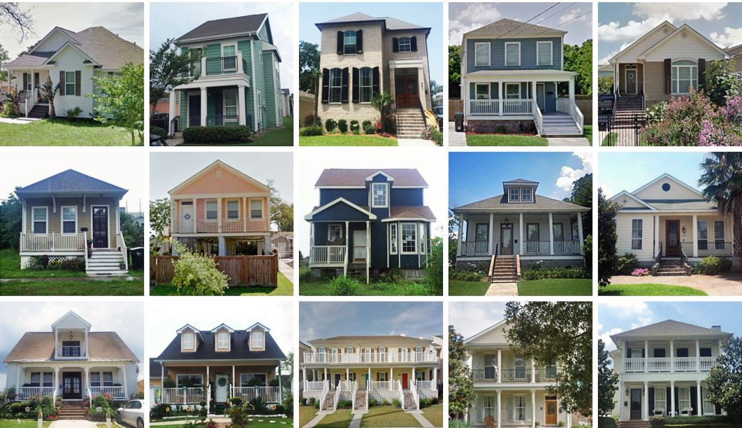 Housing styles in New Orleans