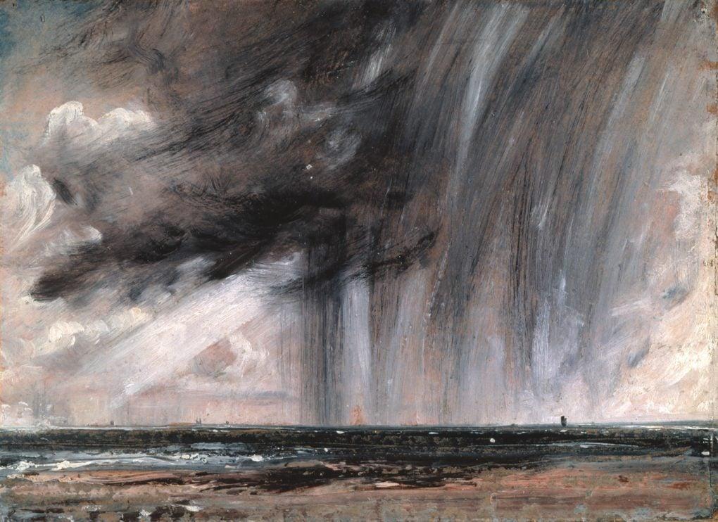 John Constable painting, Seascape Study with Rain Cloud (c. 1824)