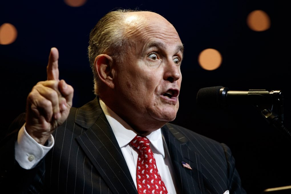 Former New York City mayor Rudolph Giuliani
