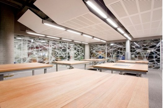 A studio in the Peter Johnson Building at UTS