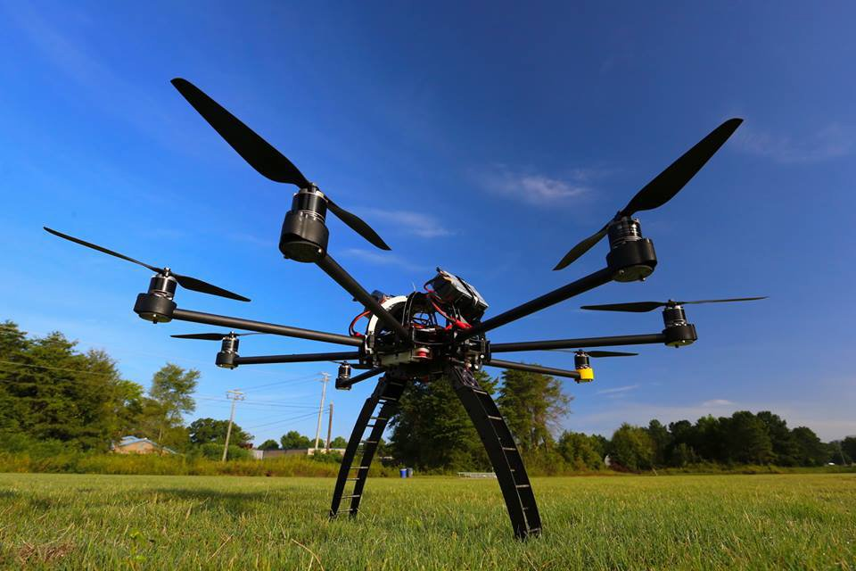 NASA Octocopter drone