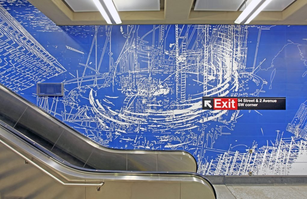 "Sarah Sze, ""Blueprint for a Landscape,"" 96th Street Station, Second Avenue Subway."