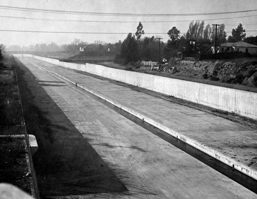 Los Angeles River, San Fernando Valley, 1949.