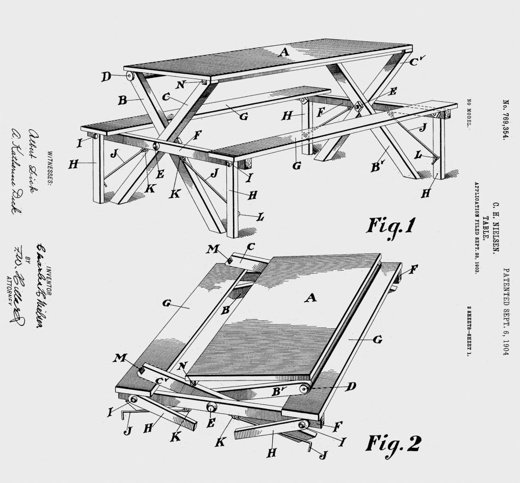 "C. H. Nielsen, ""Table,"" U.S. Patent No. 769,354."