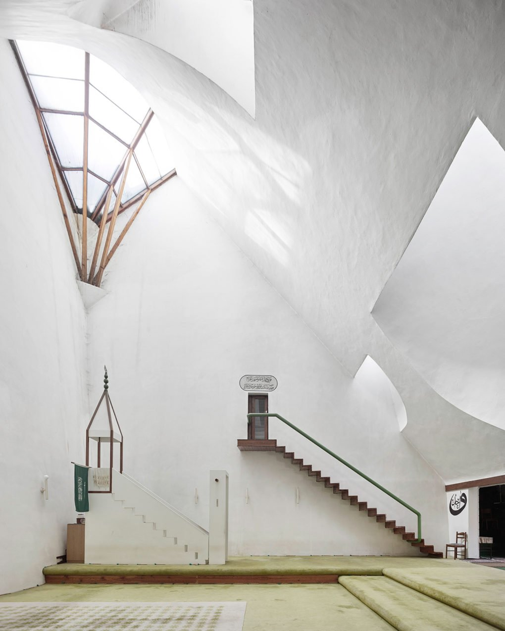 Zlatko Ugljen. Šerefudin White Mosque. 1969–79. Visoko, Bosnia and Herzegovina.
