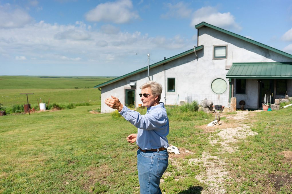Jane Koger at her house at Homestead Ranch, in Chase County, where she has been running cattle since the mid-1970s