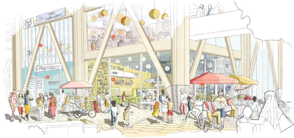 Visualization of Sidewalk Labs's plan for Quayside, Toronto