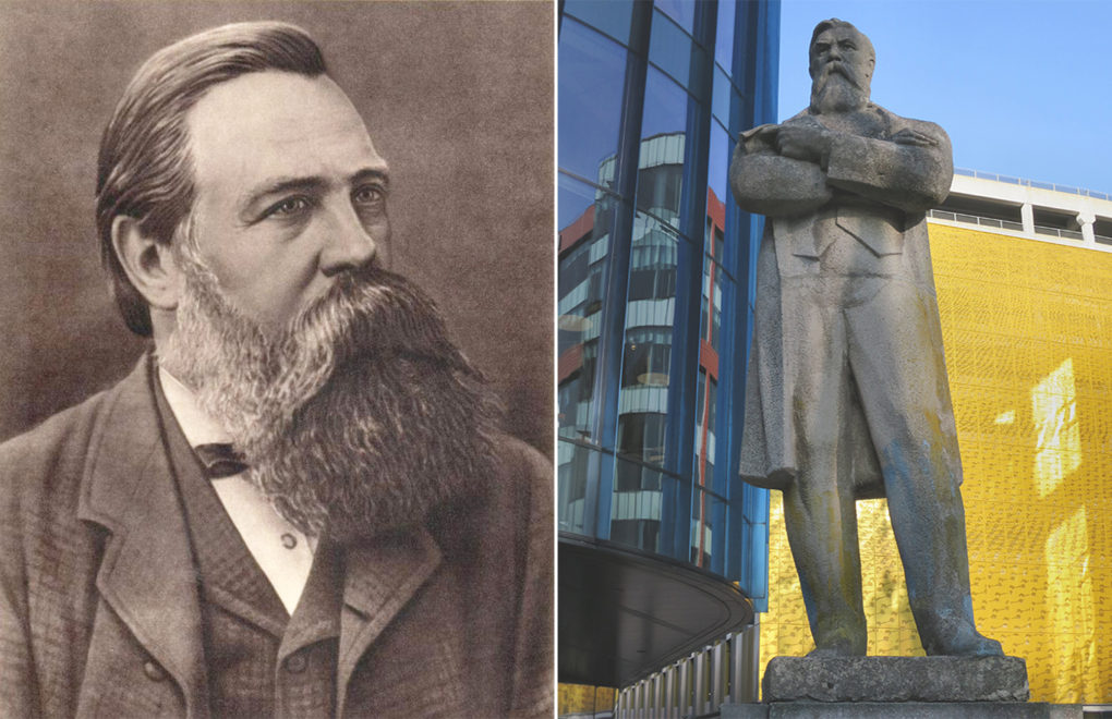 Friedrich Engels, in an undated image. Statue of Friedrich Engels, once on display in the former Soviet Union and transported to Manchester by artist Phil Collins in 2017.