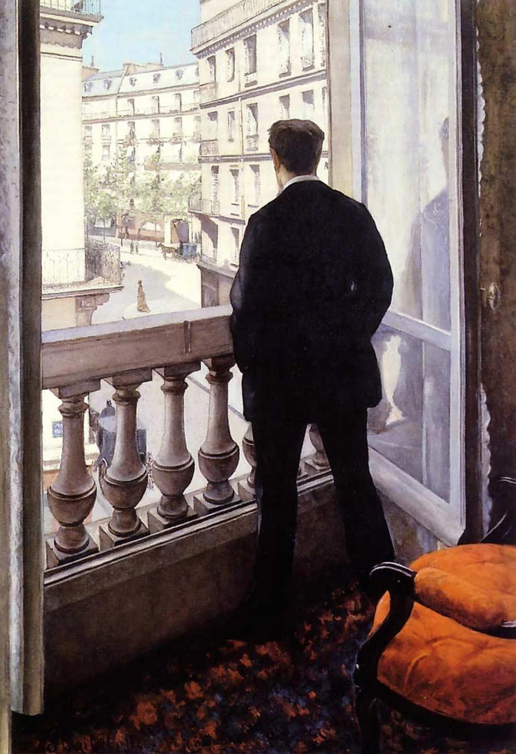 Gustave Caillebotte, Young Man at His Window, 1875.