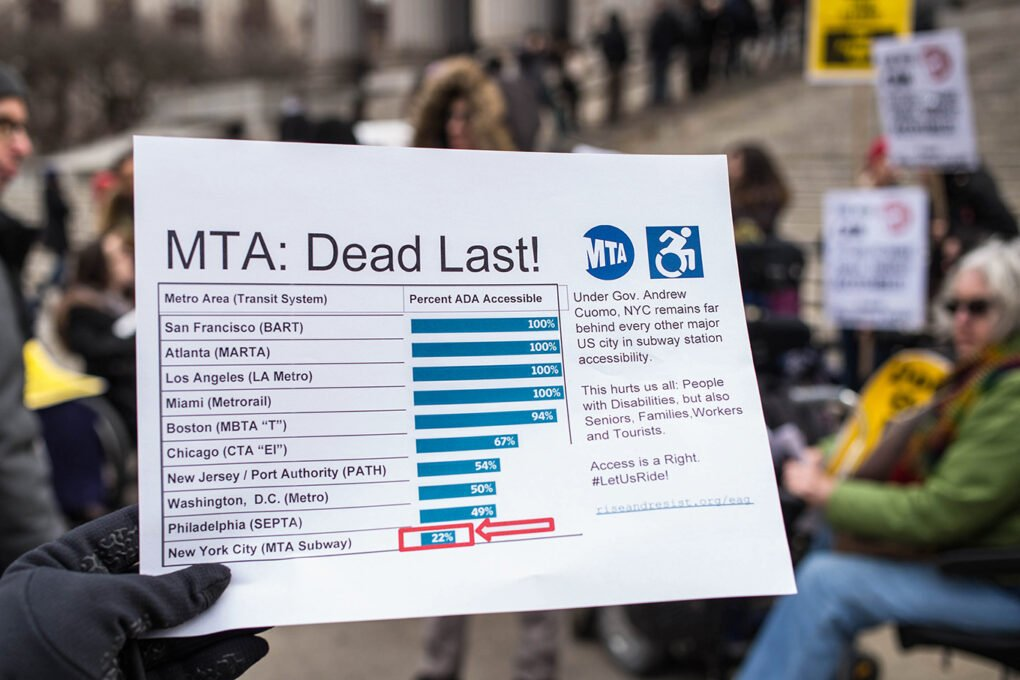 MTA: Dead Last! Information distributed at a protest organized by the People's MTA, March 2018.