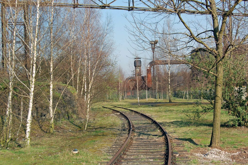 Thickets and abandoned railroad tracks at Landschaftspark Duisburg-Nord, 2007.