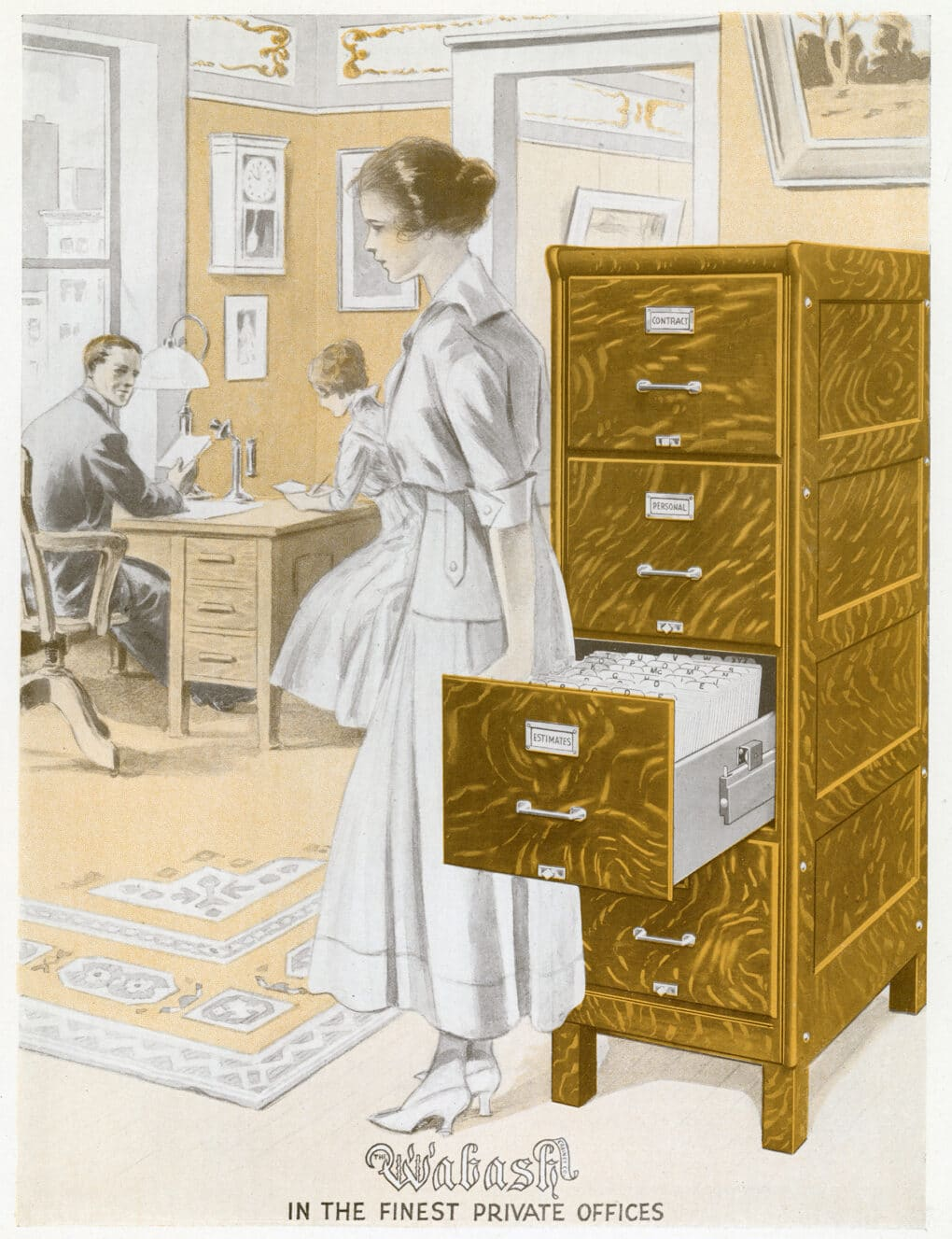 From the catalog of the Wabash Filing Cabinet Co., 1917.