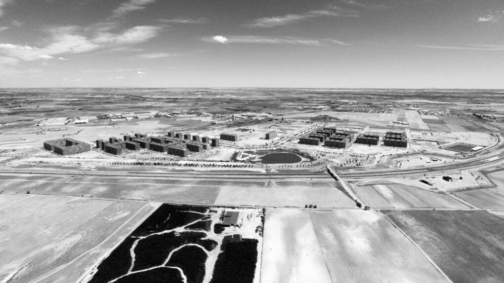 Residencial Francisco Hernando, a two-thirds complete development in Sesena, Toledo, Castile-La Mancha, Spain, 2014.